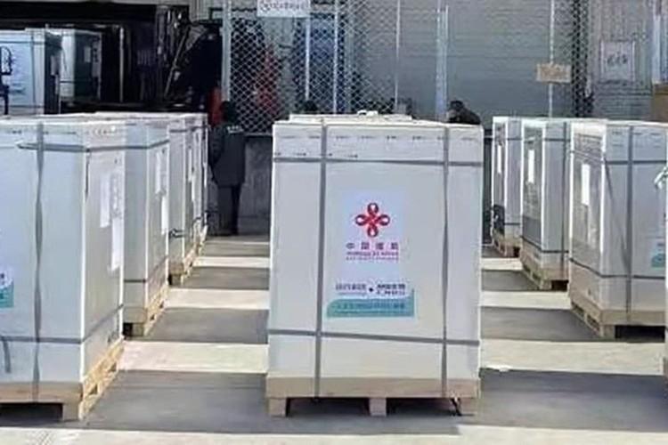 Китай отправил Беларуси 100 тысяя доз вакцины от ковида. Фото: предоставлено Посольством Беларуси в КНР