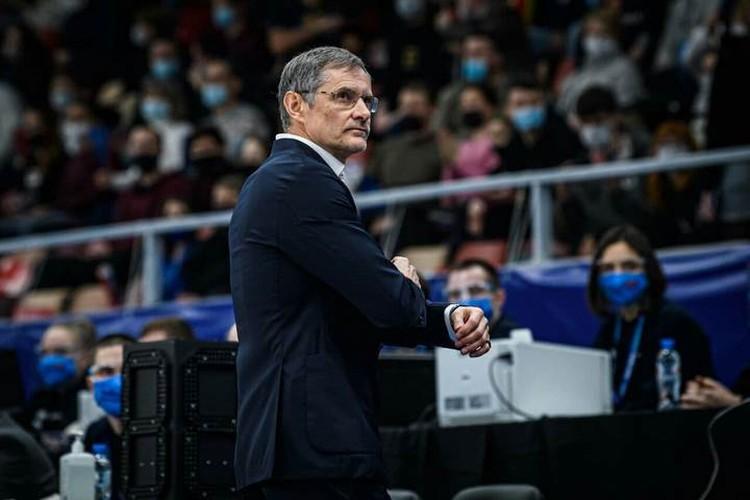 Сергей Базаревич, главный тренер сборной России по баскетболу. Фото: предоставлено пресс-службой FIBA.