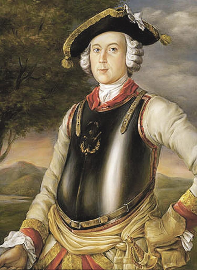 Портрет реального Мюнхгаузена (1752) в форме кирасира. К слову, в кирасиры брали только мужчин сильных и c пропорциональным телосложением.