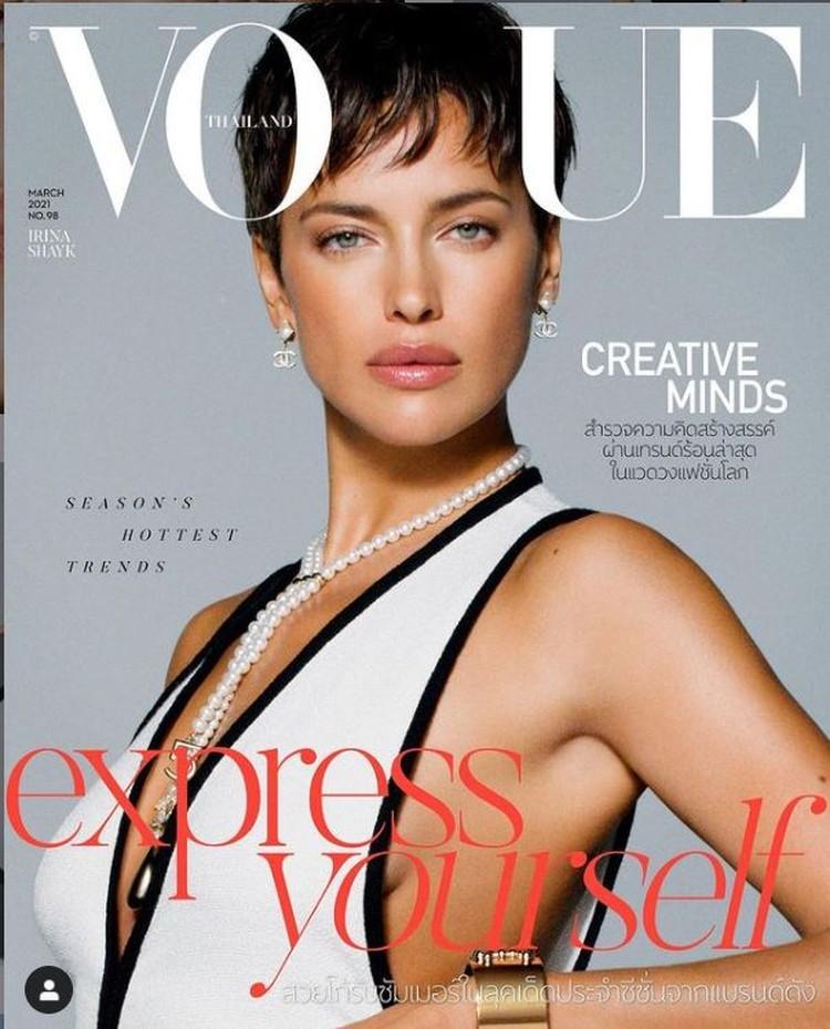 Ирина Шейк появилась на обложке мартовского номера таиландского издания журнала Vogue. Фото: Инстаграм.