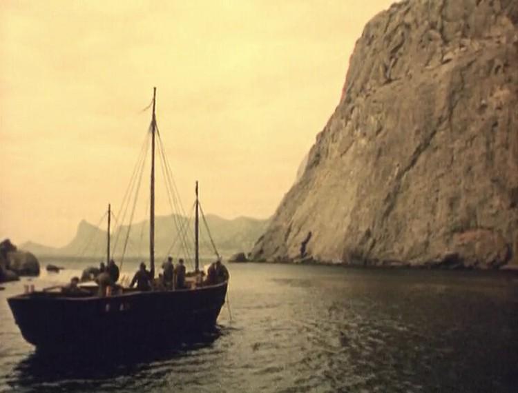 """Русские на Груманте. Кадр из фильма """"Море студеное""""."""
