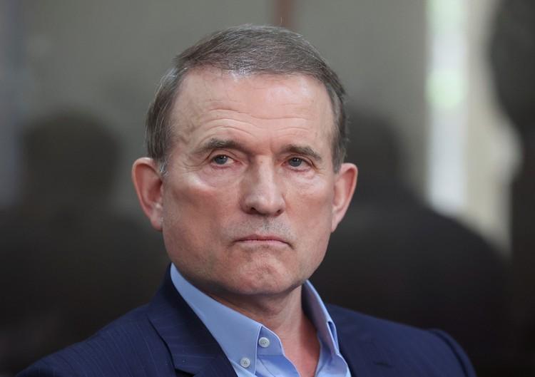 Лидер оппозиционной партии «За жизнь» Виктор Медведчук в киевском суде, 13 мая 2021 г.