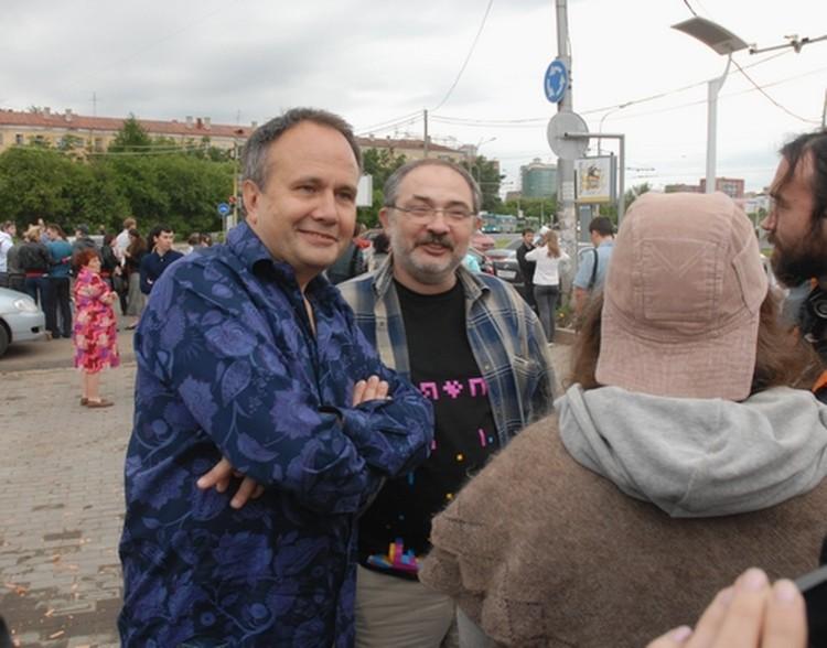 Главные гости открытия: губернатор Олег Чиркунов и галерист Марат Гельман