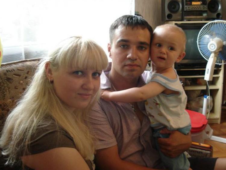 Киселевы Яна, Алексей и Темка. Пока еще счастливы и вместе...