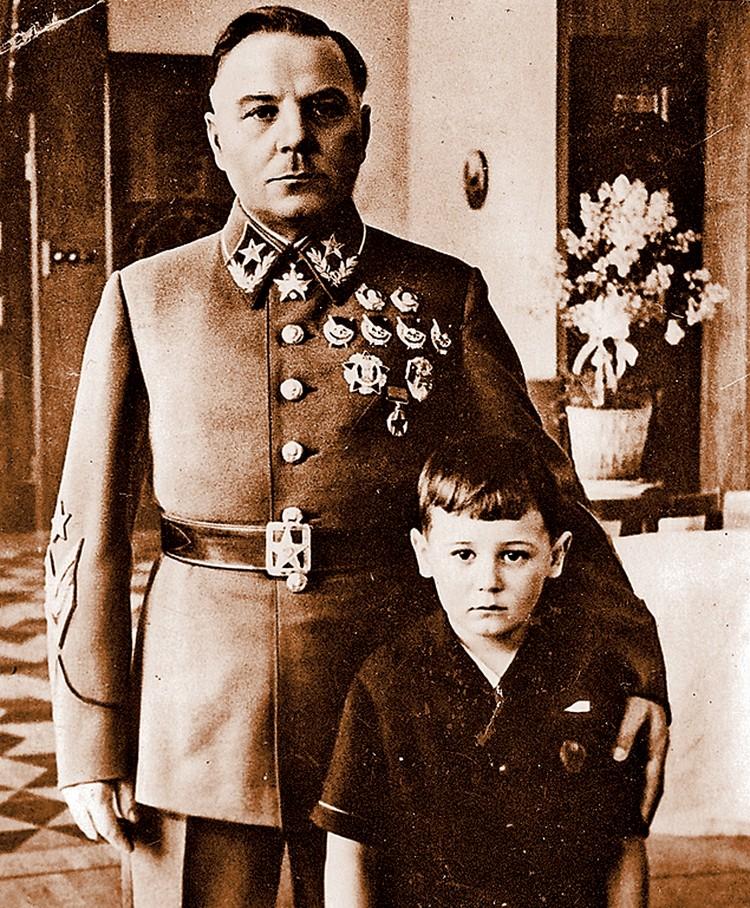Маршал с приемным сыном перед войной