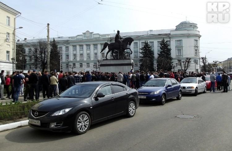 Советская площадь подобного не видела даже в дни официальных праздников