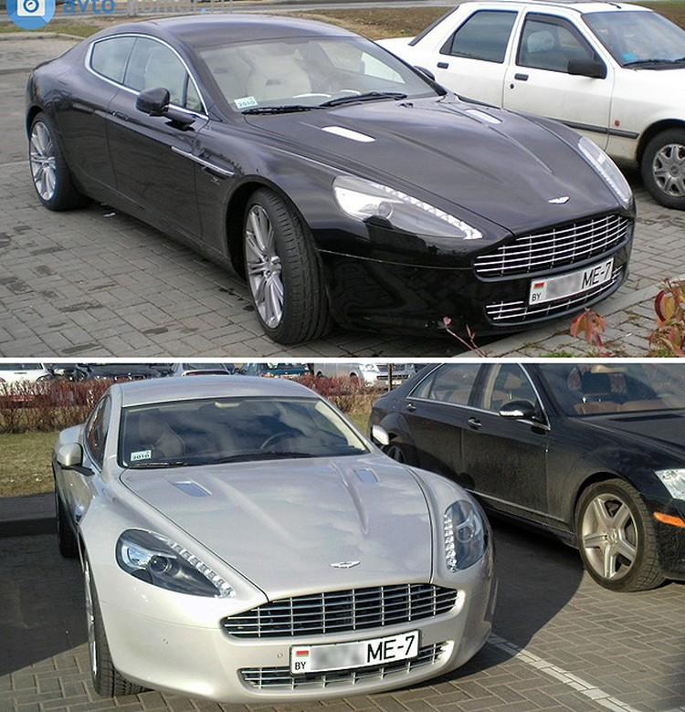 Номера первых минских Aston Martin Rapid отличаются всего на одну цифру.
