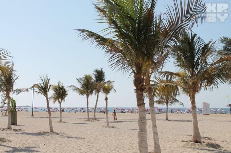 Море в Дубае очень теплое и осенью