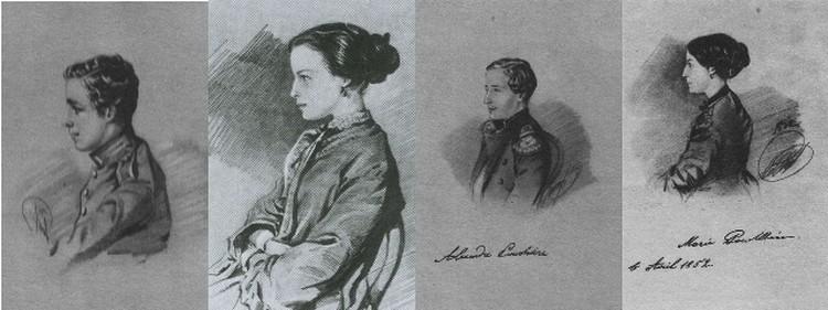 Дети Гончаровой и Пушкина (слева направо): Григорий, Наталья, Александр, Мария