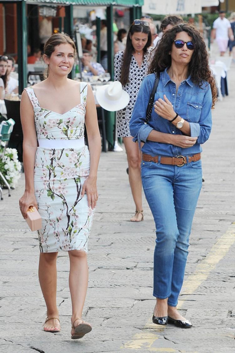 В Портофино Жукова сдружилась с известной итальянской телеведущей Афеф Джнифен.
