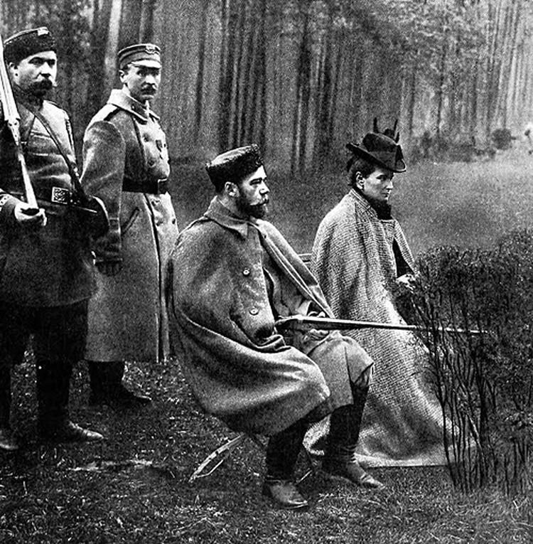 На охоте в Беловеже с супругой-императрицей