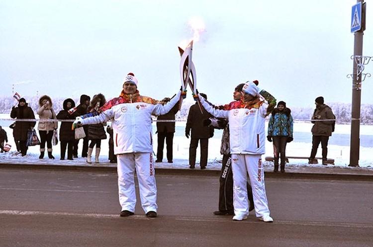 Наш город достойно встретил эстафету олимпийского огня.