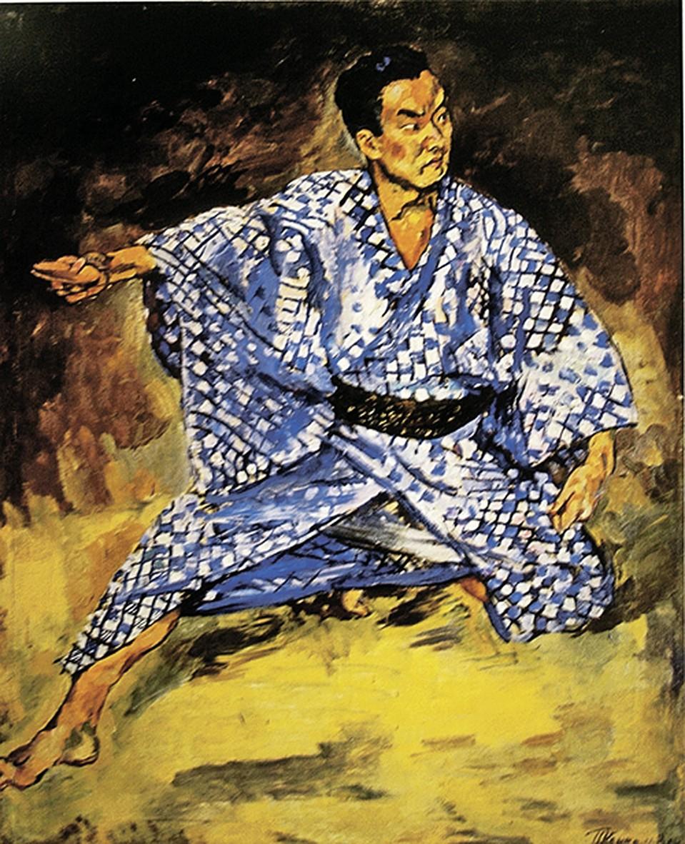 Кончаловский Портрет японского артиста Каварасаки