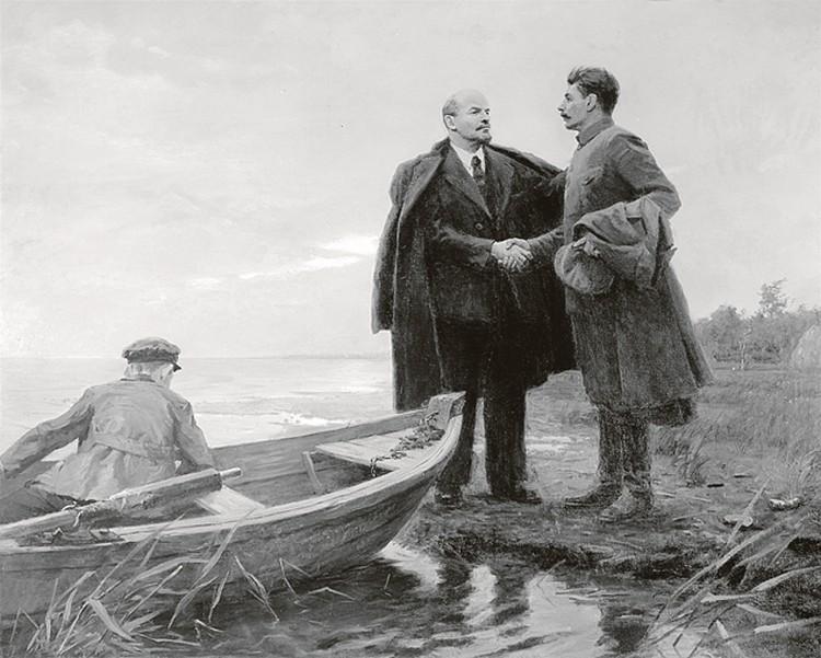 Когда Временное правительство вскрыло финансовые схемы Ленина, Сталин срочно спрятал его в Разливе.