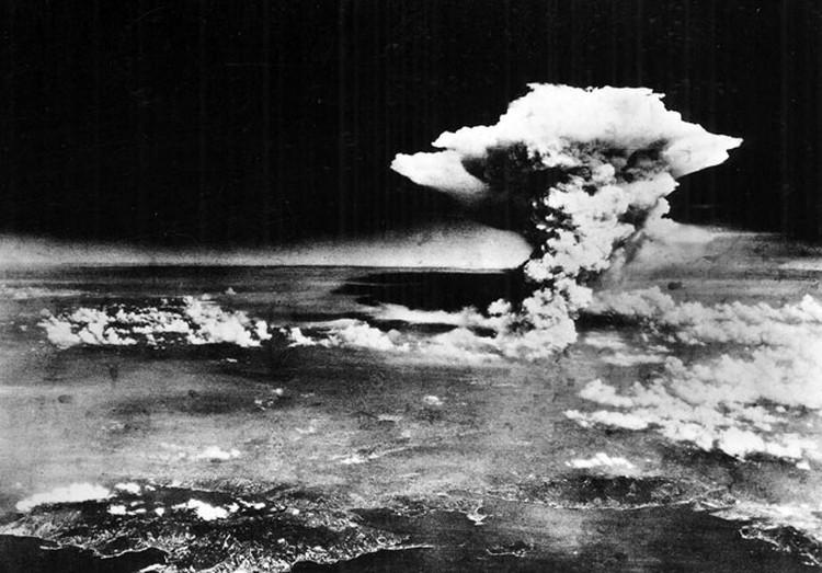 аэросъемка взрыва в хиросиме
