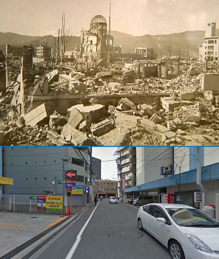 эпицентр взрыва в хиросиме и его современный вид