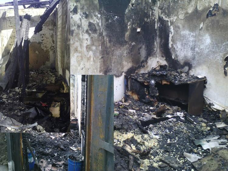 Фото: предаставлено погорельцами. Вот так выглядел дом сразу после пожара.