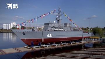 Противоминный корабль «Георгий Курбатов» спустили на воду в Петербурге