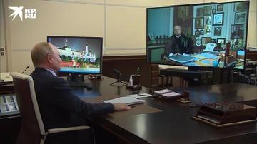 Путин поздравил Михалкова с юбилеем и выпил через телевизор