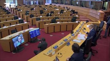 Навальный при пустом зале Европарламента требовал санкций против России