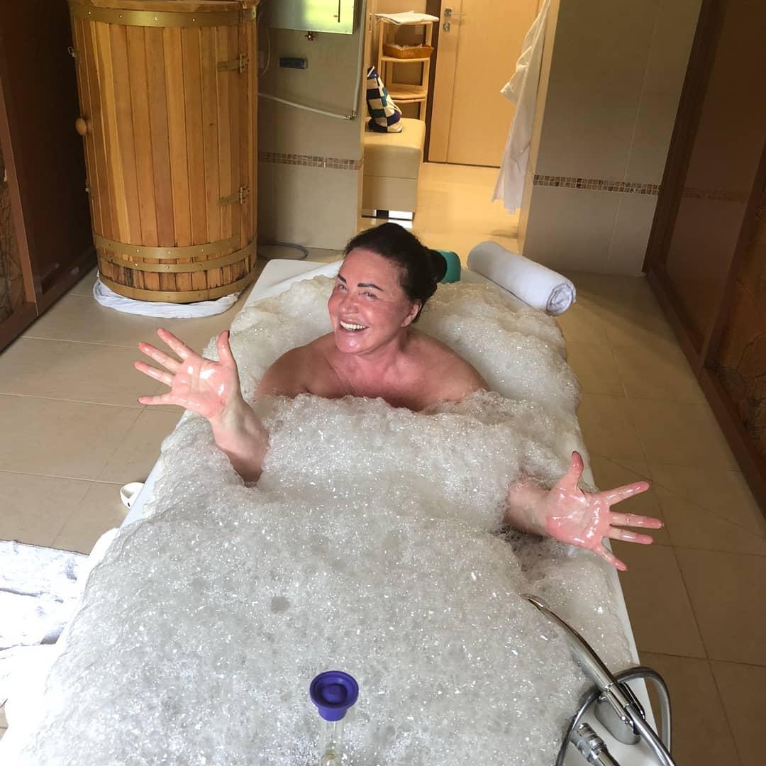 Пантовые ванны придают сил Надежде Георгиевне