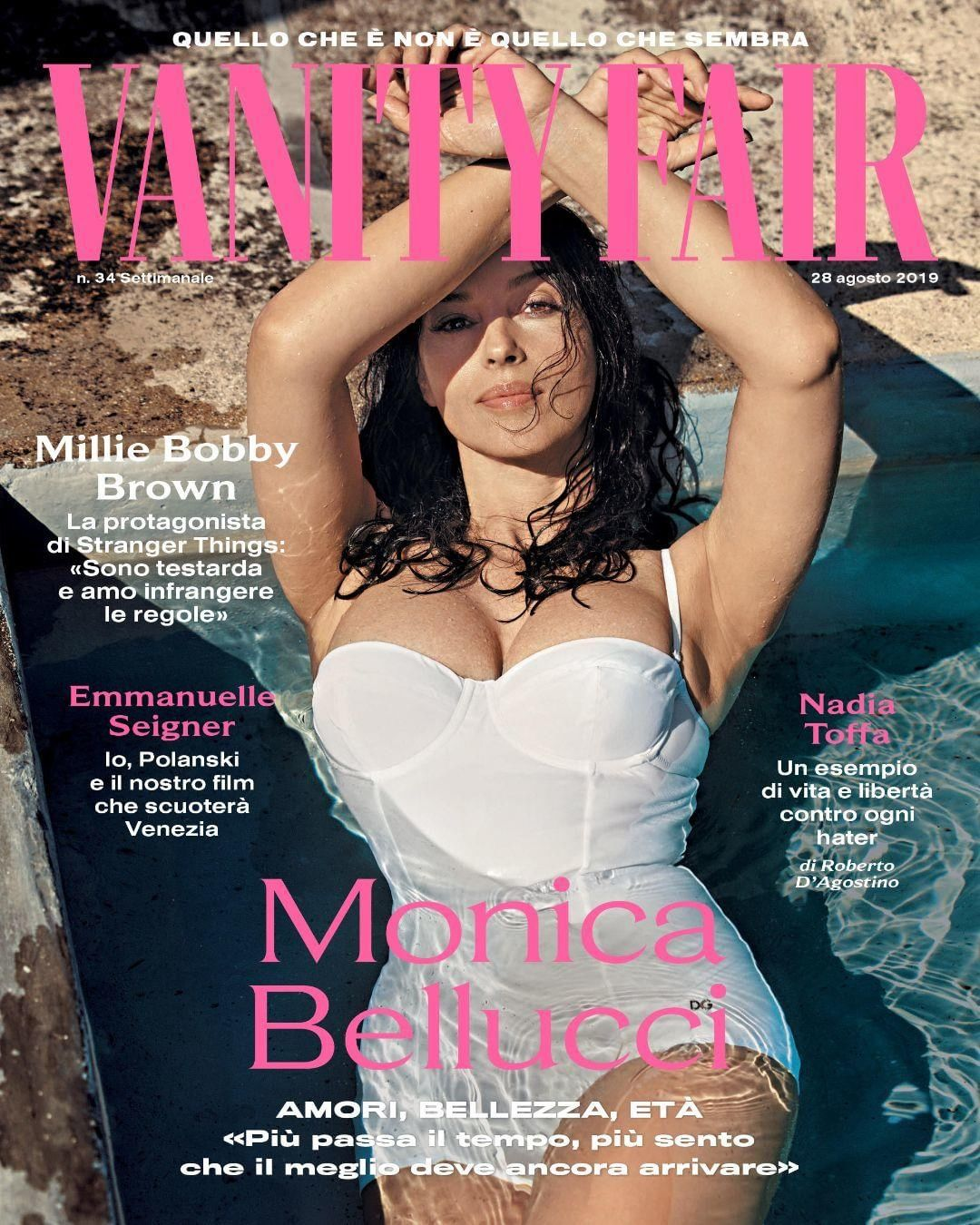 Моника Беллуччи решилась на откровенную фотосессию в воде