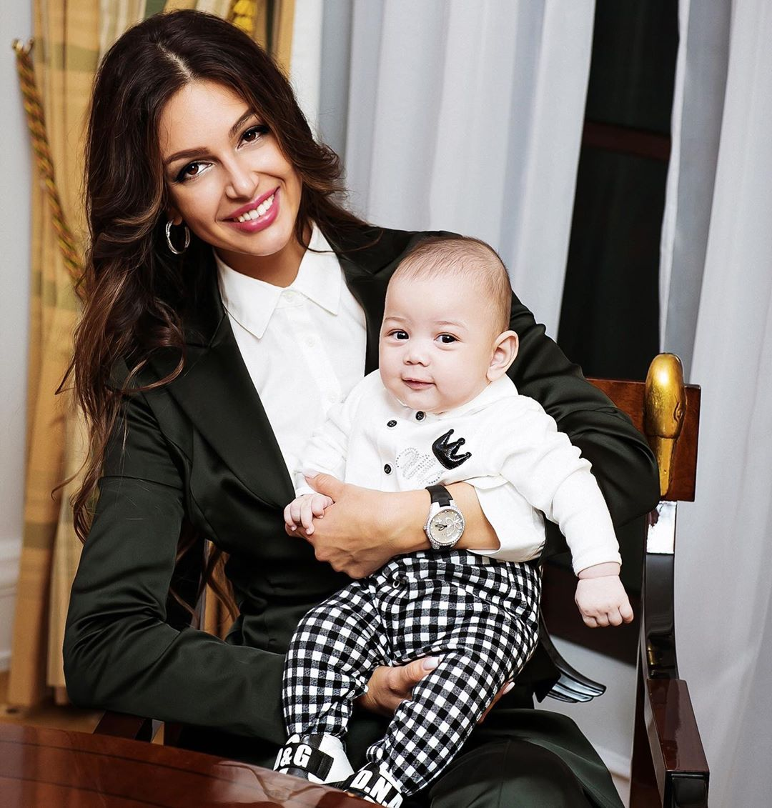 Оксана Воеводина с сыном.