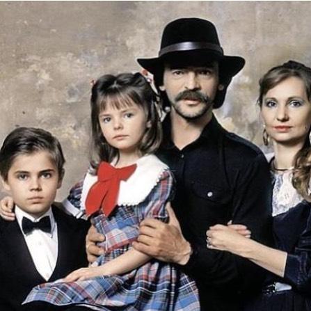 Михаил Боярский со своими детьми