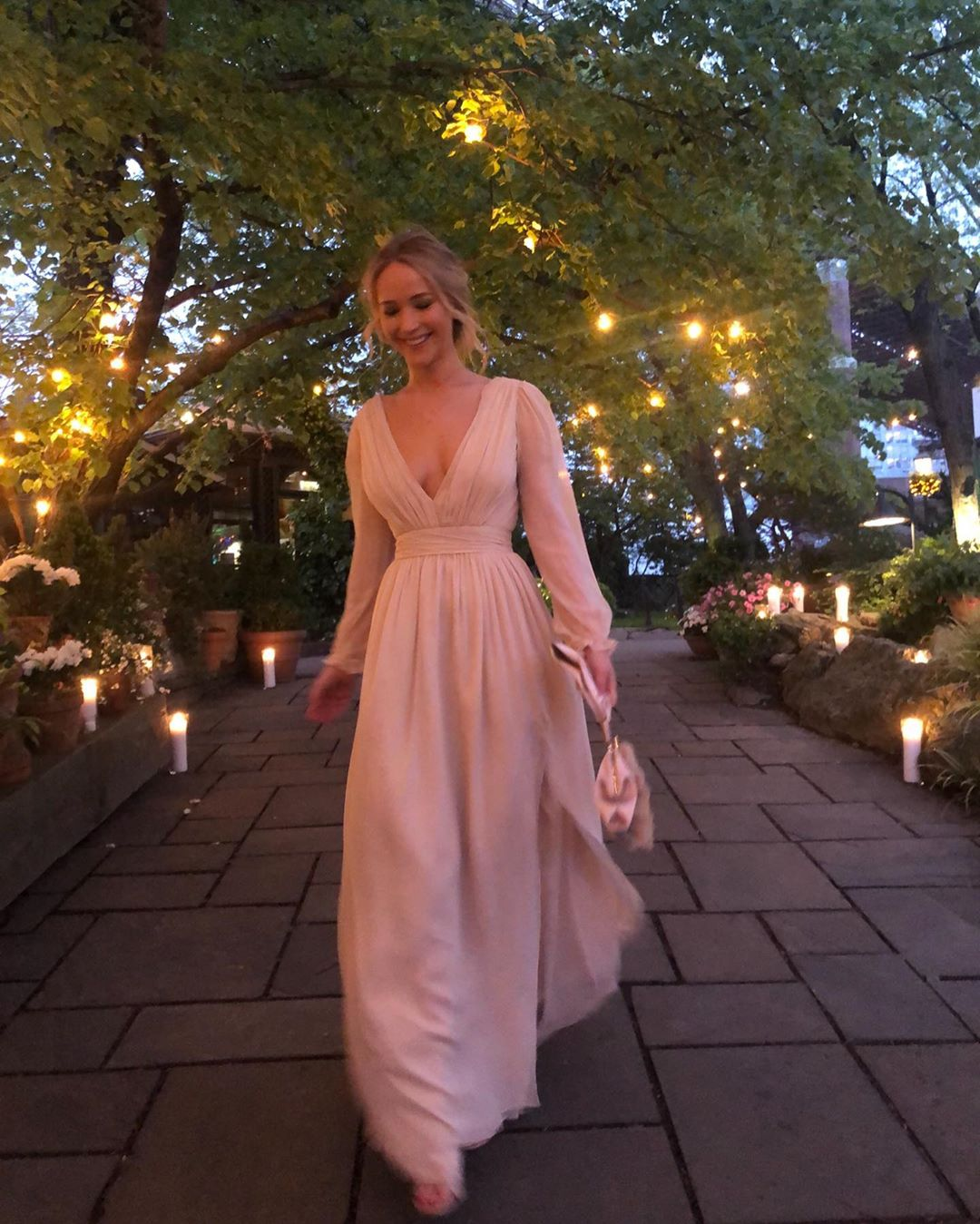 Here she comes! We couldn t be happier and more excited for #jenniferlawrence to become a #MRS.. this weekend we toasted Jen and her groom to be.. too good of a time was had by all.