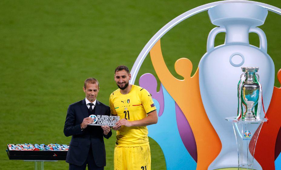 Вратарь итальянцев Джанлуиджи Доннарумма вошел в состав символической сборной по итогам Евро-2020. Фото: Reuters