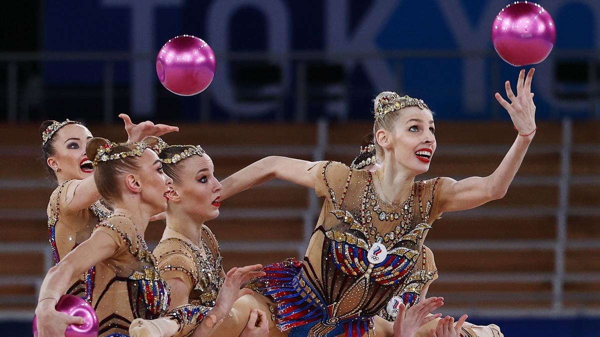 Сборная России в групповых упражнениях на Олимпиаде-2020 в Токио. Фото: REUTERS
