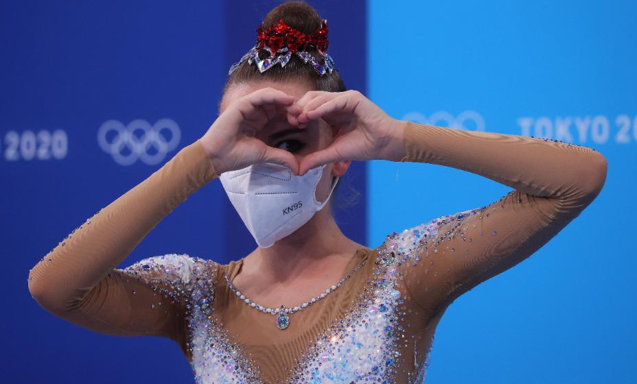 Российская гимнастка Дина Аверина выступила в индивидуальном многоборье на Играх-2020 и стала серебряным призером. Фото: Reuters