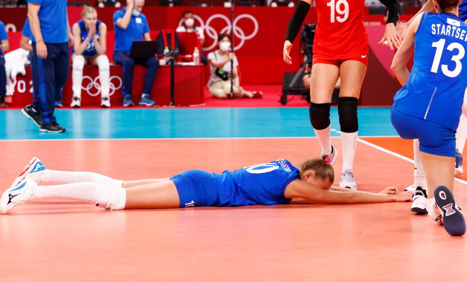Женская сборная России по волейболу умудрилась отдать матч бельгийкам на Евро. Фото: Reuters