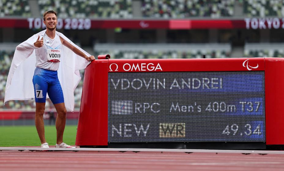 Легкоатлет Андрей Вдовин стал паралимпийским чемпионом Игр-2020 в Токио. Фото: Reuters